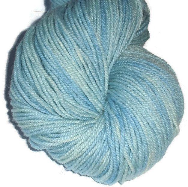 Pastel Blue Superwash Merino Yarn - Pastel Blue Hand Dyed Yarn - Blue DK Weight Merino Yarn - Blue Double Knit Yarn - 3 Ply Yarn - BlueYarn