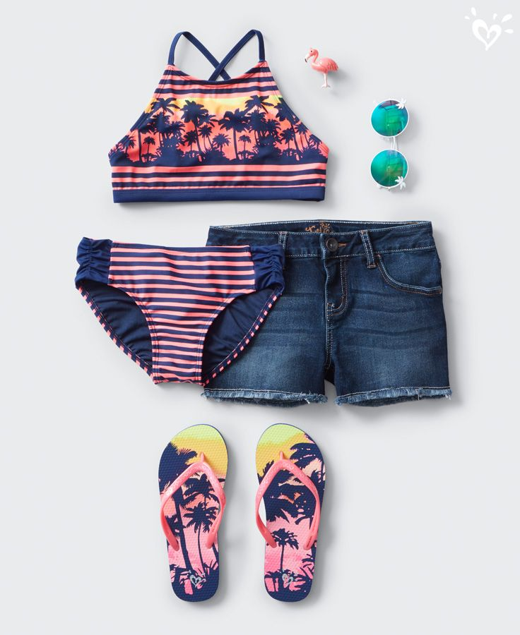 Take your fave denim to the pool party. Perfectly paired with your swim style.