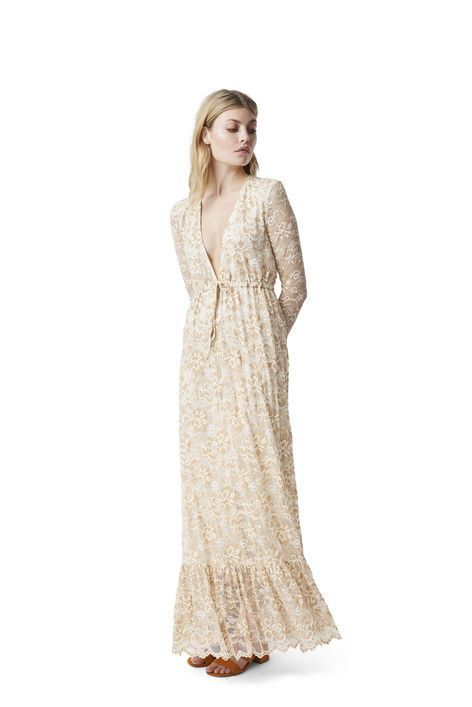 9370d695 Flynn Lace Maxi Dress, Vanilla Ice | Ganni | Dresses, Designer ...