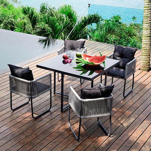 25 best ideas about table de jardin resine on pinterest. Black Bedroom Furniture Sets. Home Design Ideas