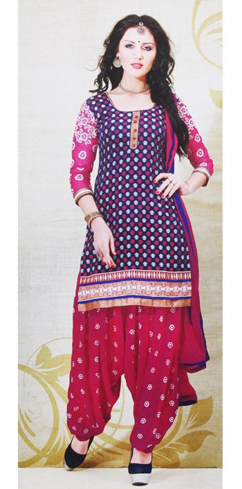 This is 100% cotton beautiful embroiderd at the neck and bottom aline full contrast sleeve kurta comes with beautiful patyala with georgette dupatta...