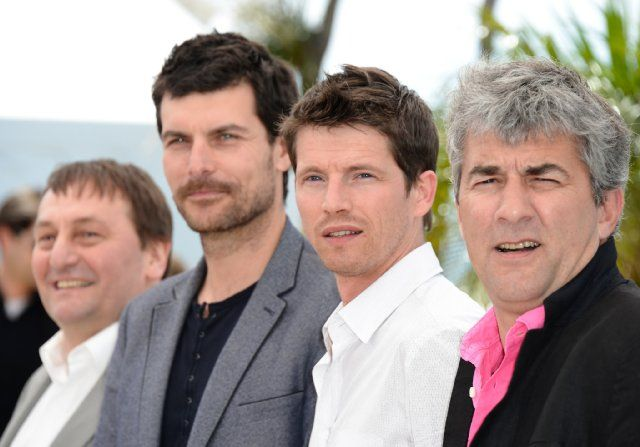 Alain Guiraudie, Christophe Paou, Patrick d'Assumçao and Pierre Deladonchamps at event of Stranger by the Lake (2013)