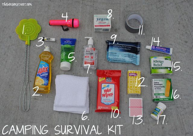 """Everyone needs a """"Go-To"""" kit when camping. Here's a suggestion for contents. Don't forget to get the unscented products."""