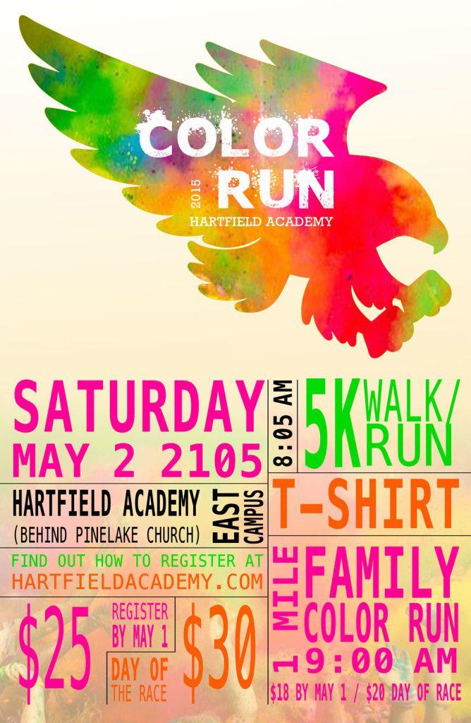 Poster design concept for color run 5k