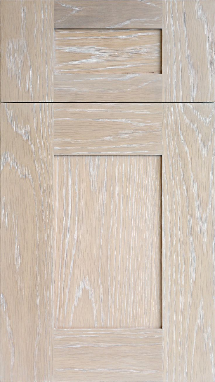 Meridian WR Door In Plainsawn White Oak In Driftwood Stain With Wire Brush  Glaze In Snow