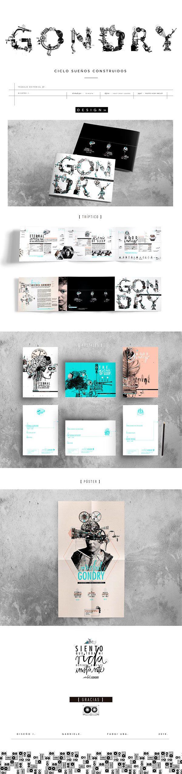 Proyecto Universitario. // Ciclo de Cine. Póster + Tríptico + 3 Postales.Pieza realizada para la cátedra para la cátedra Gabriele de la materia Diseño Gráfico I/. DG/. FADU/. UBA/.