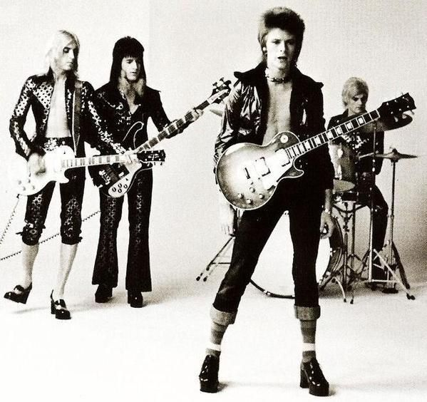 Mick Ronson, Trevor Bolder, David Bowie & Mick Woodmansey, c.1972