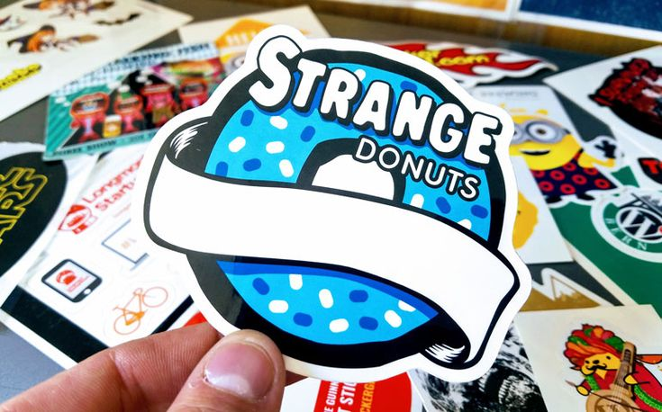 You know what they say, a 🍩 a day keeps you...strange. And the folks at Strange Donuts rep their brand with delicious looking promotional stickers for their wacky fans.