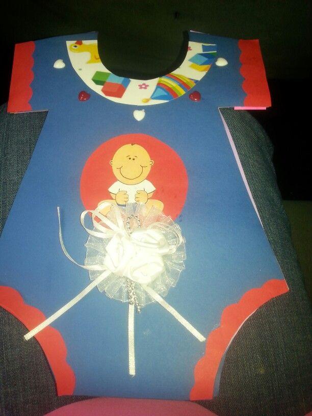 Baby Shower Onesie card