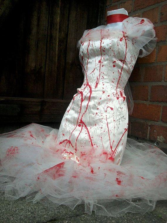 ZOMBIE Braut Hochzeitskleid Kostüm Halloween 80 s von ZombieBrideuk