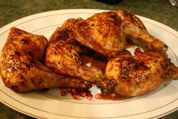 pomegranate chicken by the kosher foodies. My friend made this for dinner and it was sooooo delicious!!!!!!