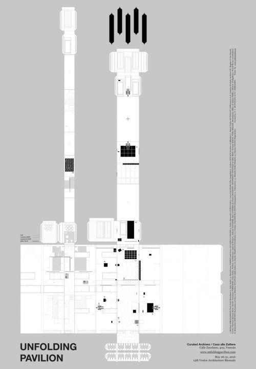 Daniel Tudor Munteanu & Davide Tommaso Ferrando / Unfolding Pavilion / Poster / 2016