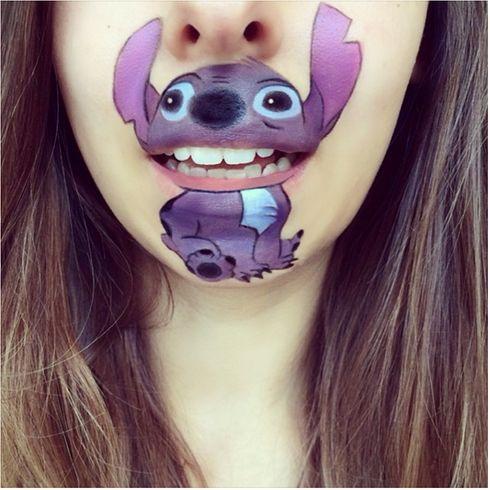 maquillage bouche lilo et stitch