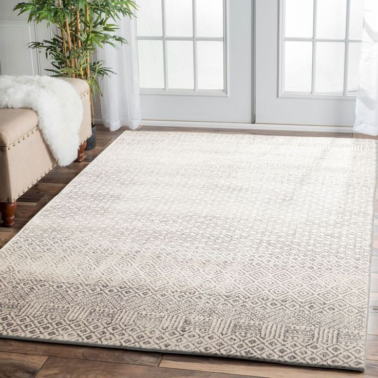 Our Dacca Transitional Grey Beige Designer Rug is a beautiful floor rug! Some of it's features include: modern, neutral coloured, stylish pattern, super soft and non shedding. It's hard to go wrong with this combination! Sizes 290 x 200cm and 330 x 240cm are in stock now, with 230 x 160cm and 400 x 300cm back in stock in mid November (can be pre-ordered now).  Also available in runner and round sizes