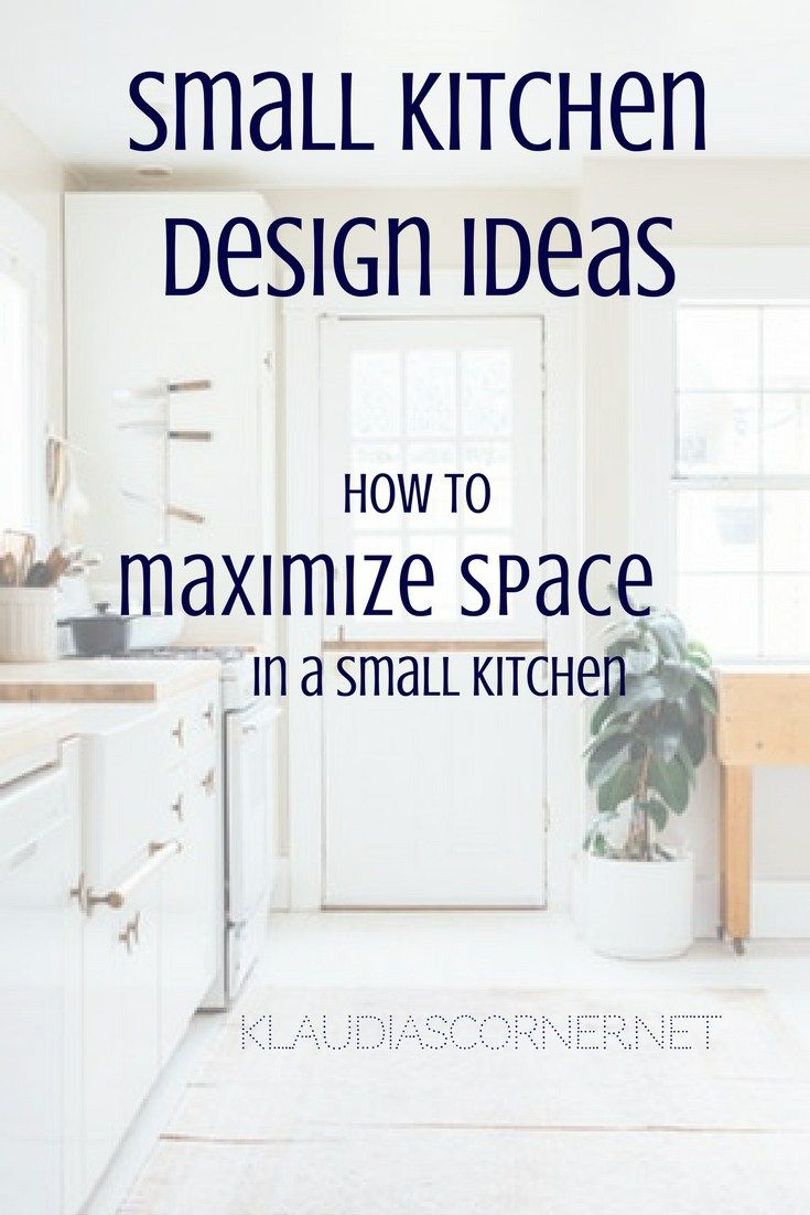 Small Kitchen Design Ideas - Many people living in 'concrete jungles' are likely to have tiny kitchens that sometimes can even be hard to use. Insufficient storage and counter space makes it difficult to function well while cooking. However, even if you think you have used the given room at the most, there are always other ways to maximize space in a small kitchen. #kitchendesign #smallkitchen #kitchen #interiordesignideas