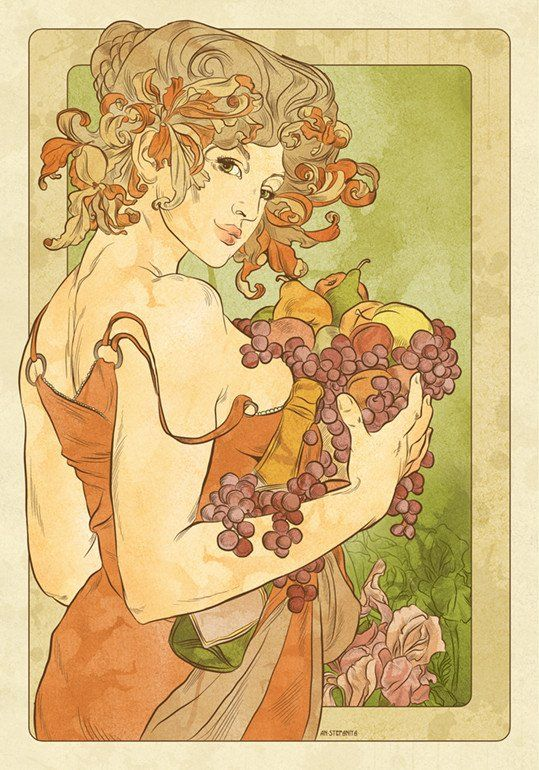 Alphonse Mucha Femmes 1 - An-Stefaniya (Print)