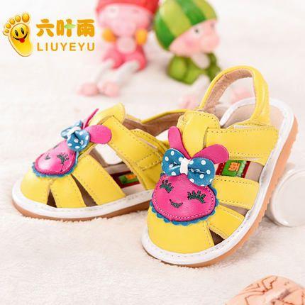 Кожаные сандалии женщина ребенок ребенок обувь малыша мягким дном детская обувь сандалии обувь обувь Весна милой принцессы Jiaojiao