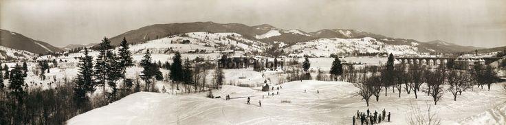 Worochta. Panorama zimą, lata 30. XX w. Foto: Henryk Poddębski Worochta, lata 30. XX wieku. Panorama zimą.