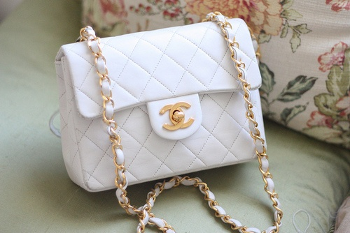 #Chanel white quilted