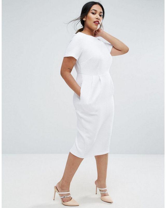 Size 12 fancy white dress