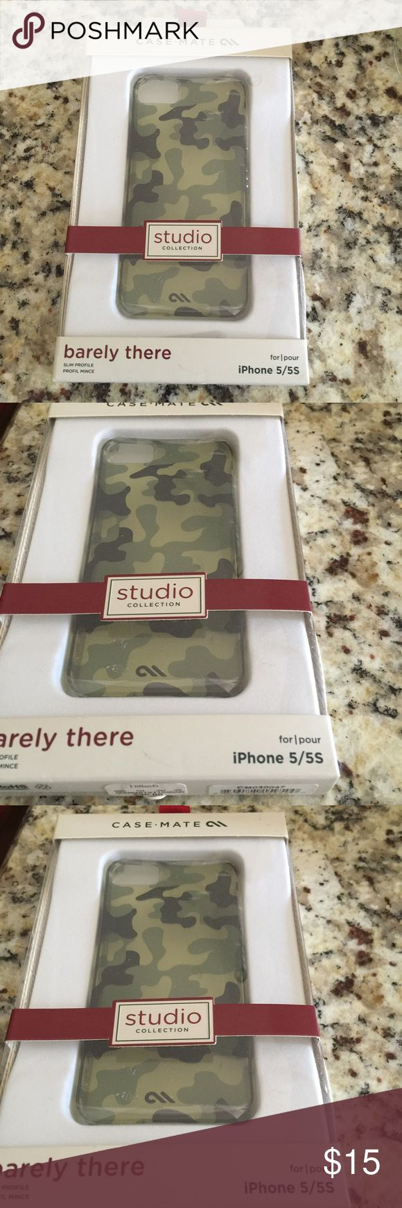 Case mate barely there  slim profile iPhone 5/5s Case mate barely there camo iPhone 5/5s brand new in box studio collection Case mate Accessories Phone Cases