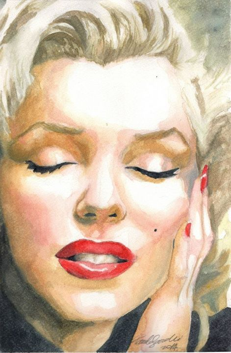 #marilynmonroe #ritratto #volto #viso #pittura #acquerello #colori #sogno #donna #iconahollywood #giovane #bella #dipinto #portrait #watercolor #woman #young #beauty #painting #paint