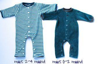 kruippakje maat 0-2 maanden of 2-4 maanden patroon en handleiding