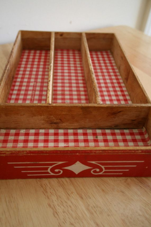 Vintage silverware tray....cute at a cabin or lake house.....