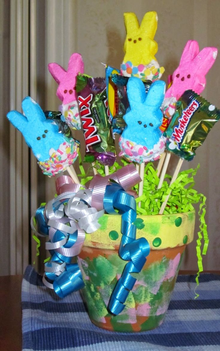 97 best easter images on pinterest easter candy easter holidays ms nancys nook peeps bunnies candy bouquet arrangement negle Choice Image