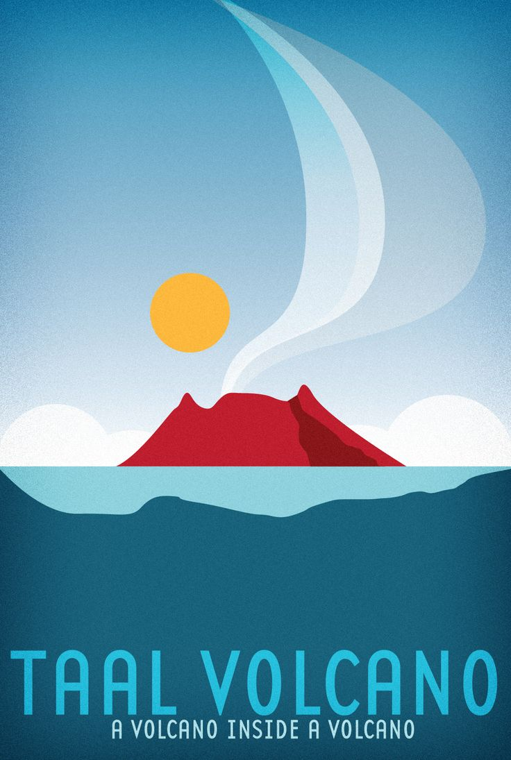Travel Poster - Taal Volcano - A Volcano inside a Volcano - Tagaytay - Philippines.