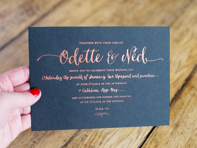 Letterpress Wedding Invitation By Simple Things Press Melbourne Wedding  Stationery Gold Foil Wedding Invitations