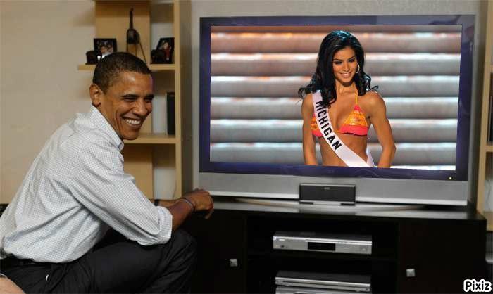 Rima Fakih Miss USA 2010 watch live Obama