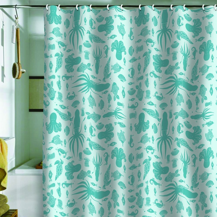 Jennifer Denty Sea Creatures Shower Curtain Pinterest Products Curtains And Shower Curtains