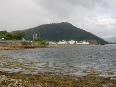 The town of Inveraray, Argyll, viewed from the featured fishing mark