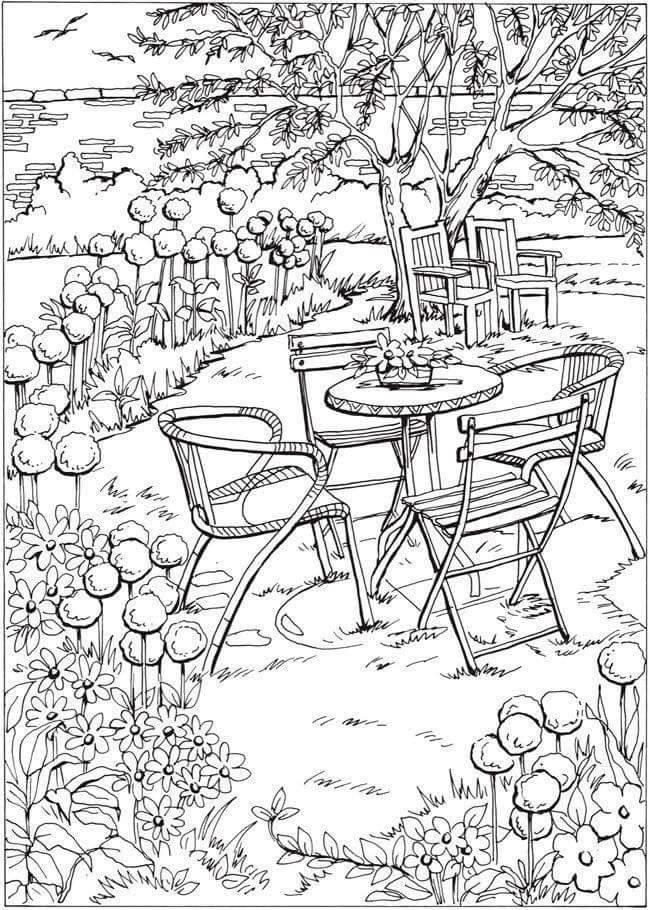 Welcome To Dover Publications Creative Haven Summer Scenes Coloring Book Mais
