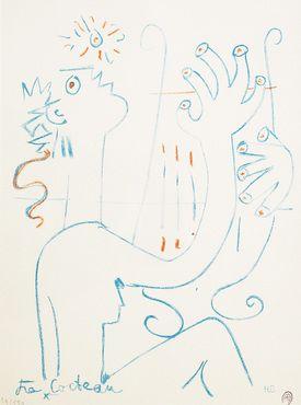 Cocteau Cocteau, Orphée jouant de la lyre, Arts décoratifs