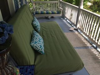 """Here is a great review for our outdoor futon covers and a fun picture of a futon from The Futon Shop in the wild.  """" I wanted to dress it up and also protect the mattress and the futon shop provided the best deal for the absolute best quality weather resistant fabric. amazingly- I am very pleased and appreciate the hard work of the futon store in creating this cover to complete a nice look for a Front porch.   http://www.thefutonshop.com/citron-green-indoor-outdoor-futon-cover/"""