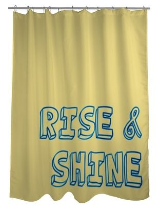 43% OFF One Bella Casa Rise & Shine Shower Curtain