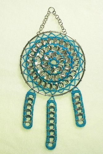 38 best images about crochet pop tabs pop tab crafts on for Aluminum can crafts patterns