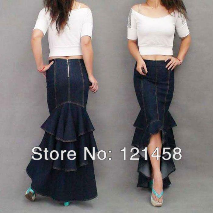 Aliexpress.com: Купить Богемия американский продажа одежды одежда мода сексуальная свободного покроя джинсовые леди длинные юбки Saia русалка стретч макси юбка для женщин из Надежный юбки весны поставщиков на Long / Maxi Beautiful Skirt