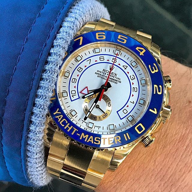 YACHTMASTER II Ref 116688 with the ceramic bezel! Gorgeous!!