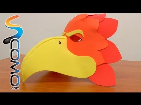 Nuevas Viceras,Gorros De Animales En Foami Gomaeva Para Fiestas Infantiles Artfoamicol Moldes.wmv - YouTube