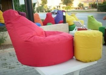 Rengarenk armut koltuklar