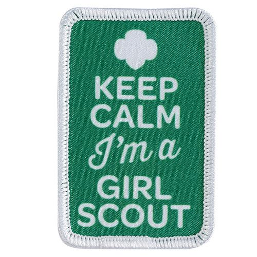 """1x 2½"""". Photo patch. All Fun Patches are unofficial and are not to be worn on the front of the Girl Scout sash, vest or tunic. All fun patch designs are exclusively owned by Girl Scouts of the USA."""