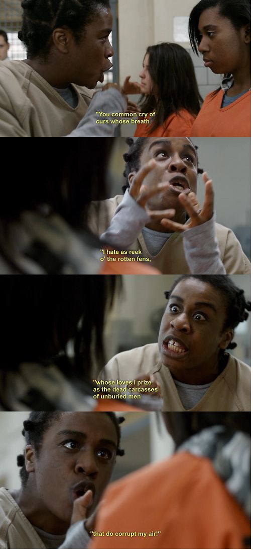 """No but really though. Suzanne's Shakespeare is everything.   25 Moments When The Women Of Color On """"Orange Is The New Black"""" Gave You So Much Life"""