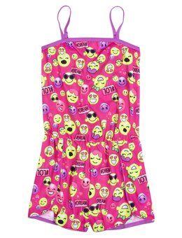 Emoji Pajama Romper