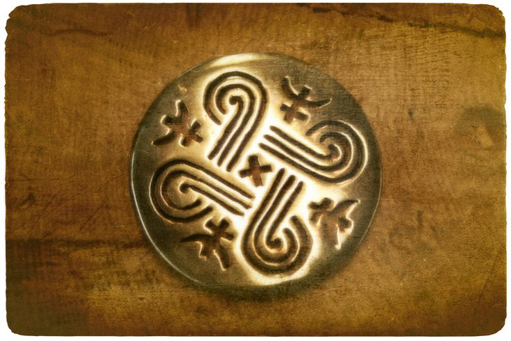 finnish good luck symbols | Finnish, Suomi Heritage / Trad Symbol for good luck - brass pendant by ...