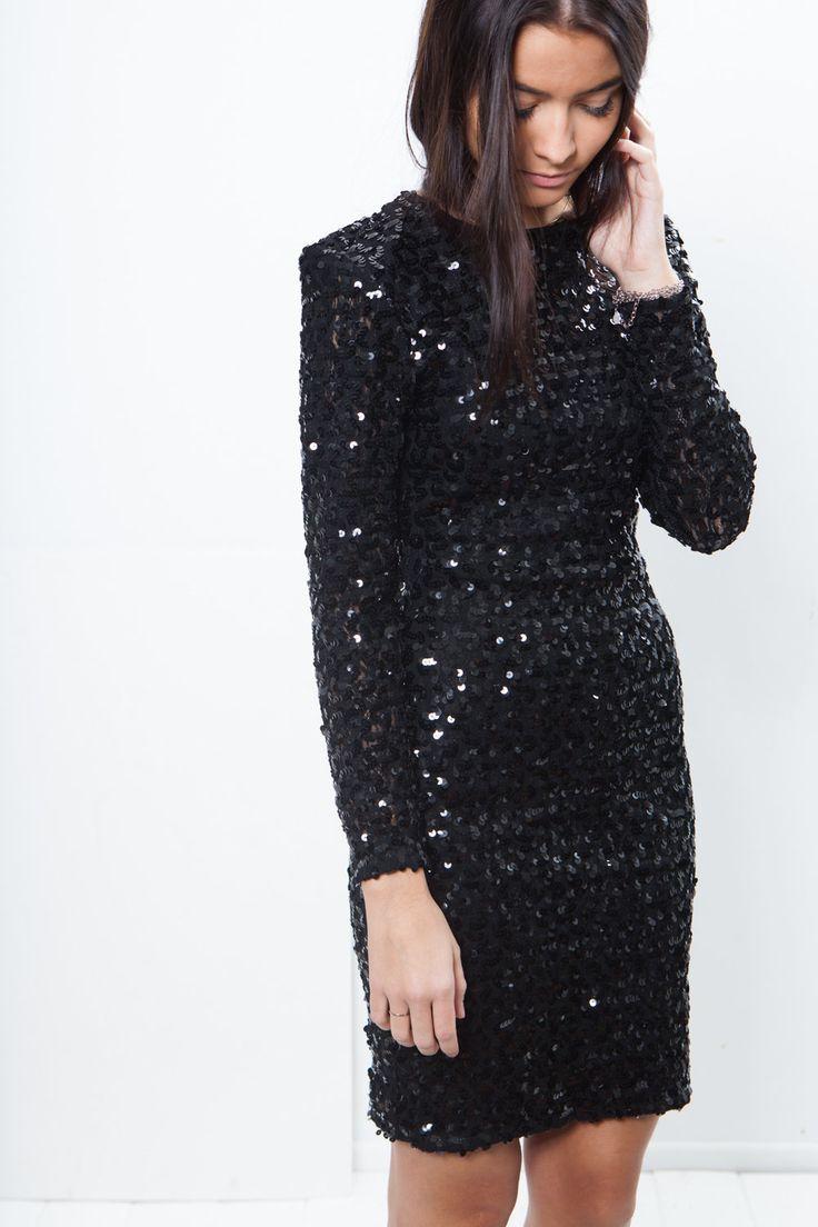 Mamba black sequin dress