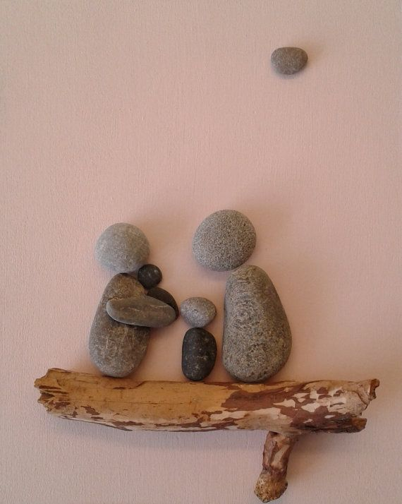 Stone people  Family by LiseStones on Etsy
