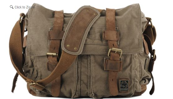 SerBags Canvas Military Messenger Bag Review and Giveaway